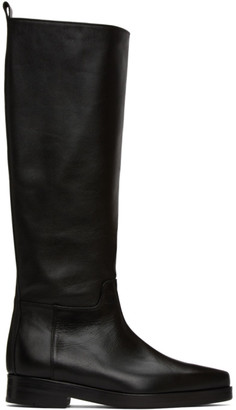Low Classic Black Western Long Boots