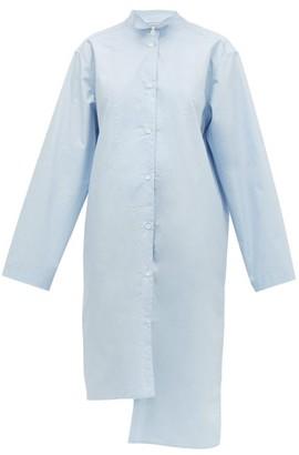 Loewe Asymmetric Oversized Cotton Shirt - Womens - Blue