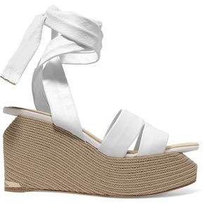 Paloma Barceló Luise Leather Espadrille Wedge Sandals