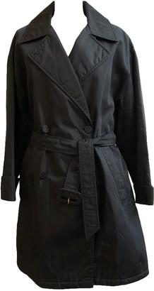 Prada Black Synthetic Trench coats