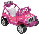 Fisher-Price Barbie Power Wheels Jammin' Jeep Wrangler by