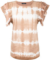 Roberto Collina tie-dye gradient-effect top - women - Cotton/Spandex/Elastane/Silk - M