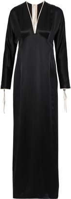 Kiki de Montparnasse Bow-detailed Silk-satin Gown