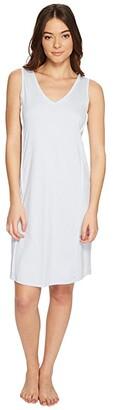 Hanro Pure Essence Tank Gown (Blue Glow) Women's Pajama