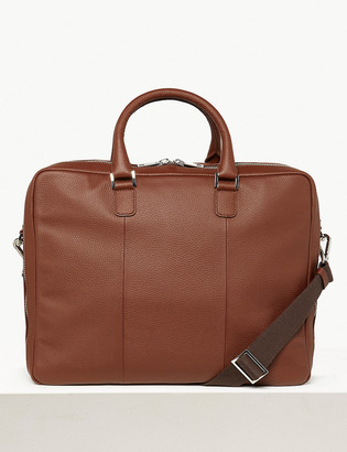 Marks and Spencer Leather Double Pocket Briefcase