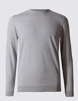 M&s Collection Pure Merino Wool Crew Neck Jumper