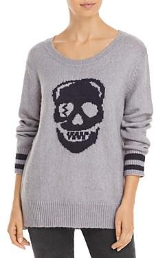 Vintage Havana Knit Skull Pullover Sweater