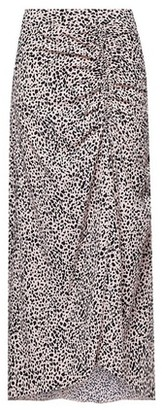 Dorothy Perkins Womens Multi Colour Leopard Print Ruched Midi Skirt