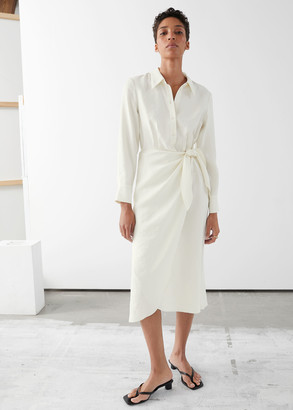And other stories Wrap Midi Dress