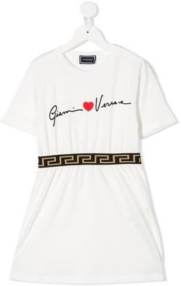 Versace graphic-print T-shirt dress