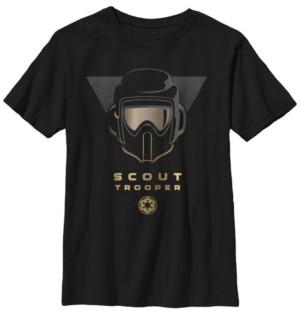 Star Wars Big Boys Fallen Order Golden Scout Trooper Short Sleeve T-Shirt