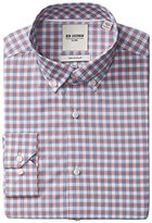 Ben Sherman Men's Slim Fit Multi Check Button Down Collar Dress Shirt