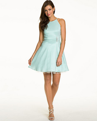 Le Château Taffeta Fit & Flare Dress