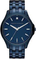 Armani Exchange Men's Diamond Accent Blue Ion-Plated Stainless Steel Bracelet Watch 46mm AX2184