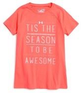 Under Armour Tis the Season Graphic HeatGear ® Tee (Big Girls)