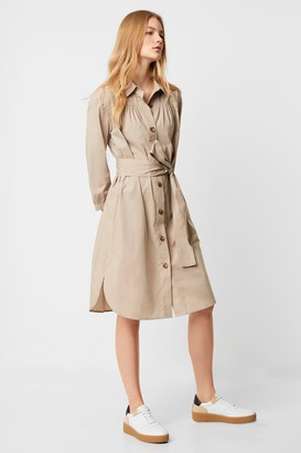 French Connection South Rhodes Poplin Belted Shirt Dress