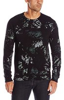 Splendid Mills Men's Long Sleeve Crew Neck Painted Camo Shirt