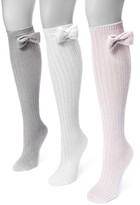 Muk Luks Women's 3-pk. Bow Pointelle Knee-High Socks