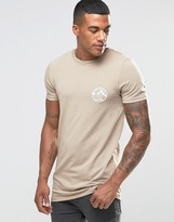 Asos Longline Muscle T-shirt With Welcome To Miami Chest Print