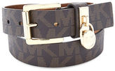 MICHAEL Michael Kors Textured Faux Leather Belt
