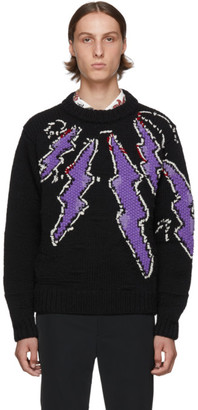 Prada Black Hand-Knit Runway Sweater