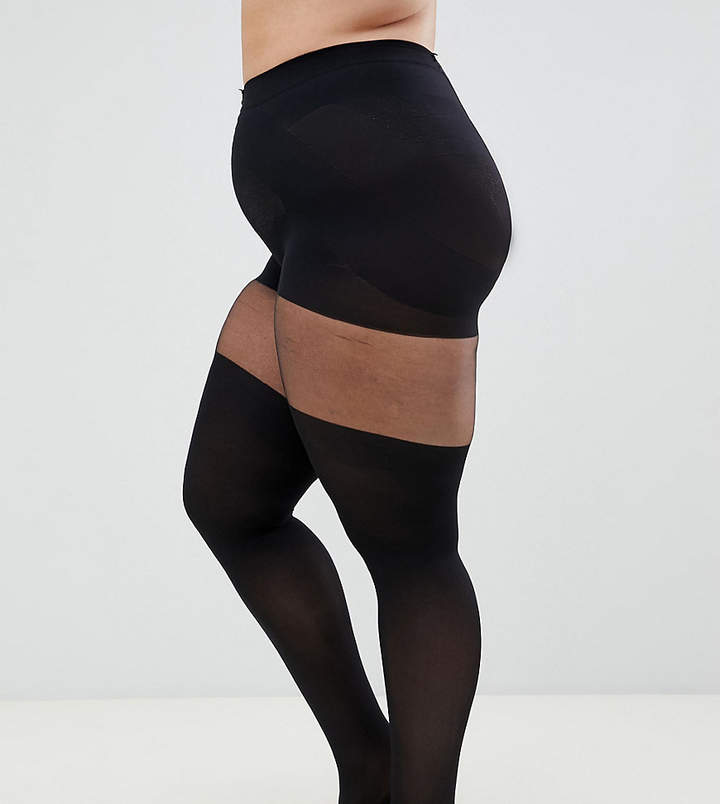 Asos DESIGN Curve mock over the knee tights with support