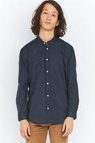 Suit Jimmy Navy Mandarin Collar Shirt