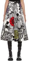Junya Watanabe Multicolor Panelled Circle Print Skirt
