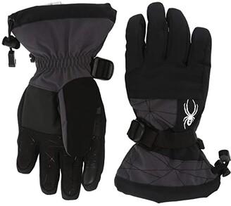 Spyder Overweb (Little Kids/Big Kids) (Ebony) Extreme Cold Weather Gloves