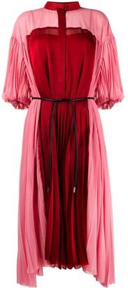 Sacai Colour Block Pleated Dress
