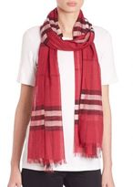 Burberry Giant Check Gauze Scarf