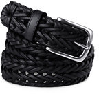 Classic Men's Dress Braid Belt-Black