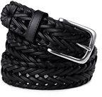 Classic Men's Dress Braid Belt-Dark English Tan
