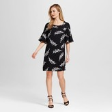 Merona Women's Leaf Print Flutter Sleeve Dress