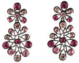 Oscar de la Renta Crystal Clip-On Drop Earrings