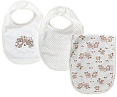 Little Me Sweet Owls Bib & Burp Cloth 3-Piece Set