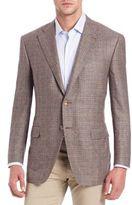 Canali Plaid Cashmere & Silk Blazer