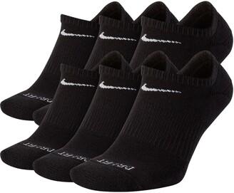 Nike Dri-FIT 6-Pack Everyday Plus No-Show Performance Socks