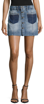 Joe's Jeans Pixie A Line Denim Skirt