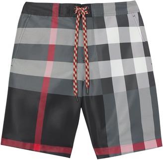 Burberry Check print swim shorts