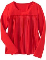 Old Navy Girls Pleated Jersey Tops
