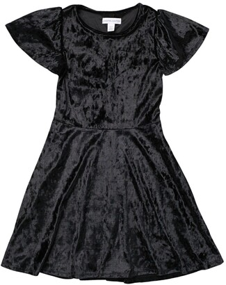 Harper Canyon Buff Sleeve Velour Dress
