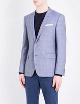 HUGO BOSS Slim-fit wool and linen-blend jacket