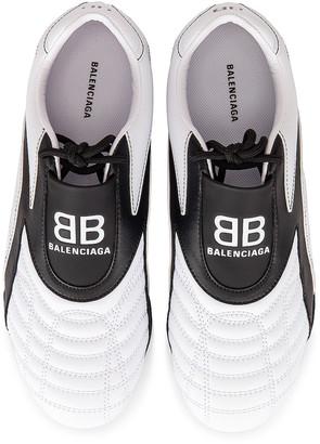 Balenciaga Zen Sneakers in White & Black | FWRD