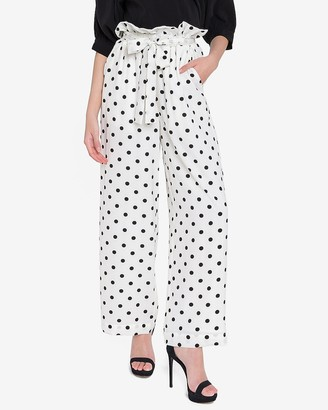 Express English Factory High Waisted Paperbag Wide Leg Pant