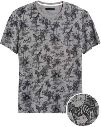 Banana Republic Safari Print Graphic T-Shirt