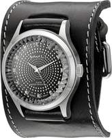 Nemesis Men's GSB78K Signature Pointium Diamond Cut Leather Band Watch