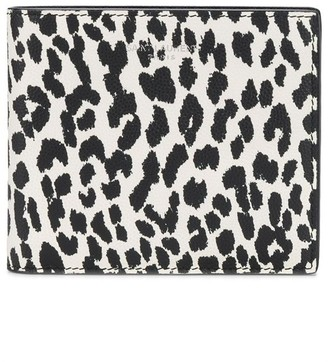 Saint Laurent Leopard Print Leather Wallet