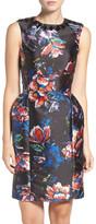 Sachin + Babi Embellished Floral Print Jacquard Sheath Dress