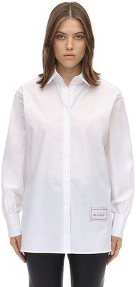 Karl Lagerfeld Paris Classic Cotton Poplin Shirt